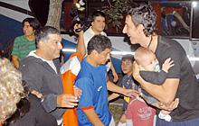 Marín fue recibido por la gente con mucho cariño